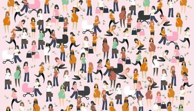На оваа илустрација сите прават нешто, само една мајка одмора: Дали можете да ја пронајдете?