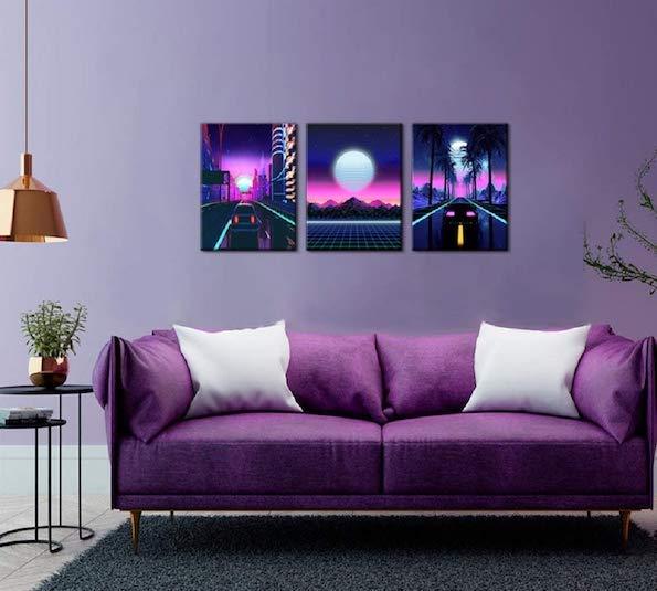 Виолетова боја – идеален избор за декорација на дневната соба