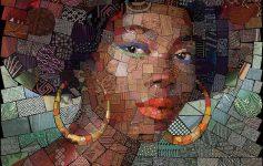 Уметник креира необични мозаици со портрети инспирирани од африканската култура